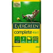 Evergreen Complete 4-in-1 Lawn Feed, Weed and Moss Killer 200m2 7kg