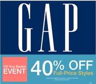 40% off at Gap