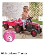 Pink Unicorn Tractor