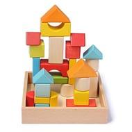 Wondertoys 26 Pieces Wooden Building Blocks