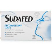 Sudafed Decongestion Non Drowsy 12 Tablets