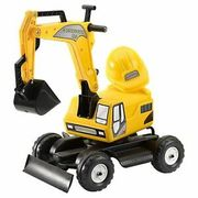 Falk Constructor Excavator Backhoe Complete Arm with Helmet Yellow for Ages 2+