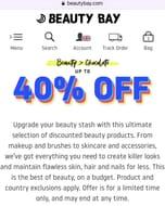 Good Friday Sale at Beauty Bay. Upto 40% Off