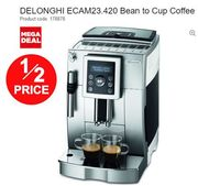 DELONGHI Bean to Cup Coffee Machine HALF PRICE NOW at CURRYS!