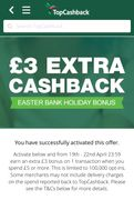 £3 Cashback on £5 Spend via Topcashback