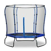 7FT Trampoline with HALO Safety Enclosure - Blue Free Delivery