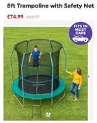 GOING CHEAP! 8ft Trampoline with Safety Net - NOW £74.99