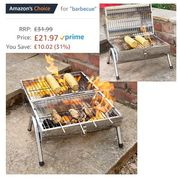 It's Sunny! Barbie Time! OUTBBQ2 Portable Barrel BBQ. FREE DELIVERY