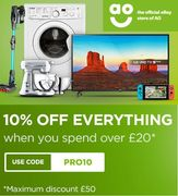 10% off EVERYTHING at AO eBay Store! GET YOUR ELECTRICALS CHEAPER!