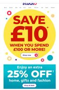 Save £10 When You Spend £100
