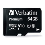 Verbatim 64GB Micro SD Card - Class 10 with Adapter