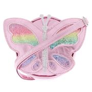 Claire's Club Sequin Butterfly Crossbody Bag - Pink