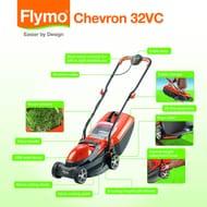 Flymo Chevron 32VC Electric Wheeled Lawn Mower (32cm Cut)