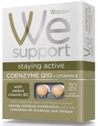 Wassen We Support Staying Active Coenzyme Q10 + Vitamin E - 30 Tablets