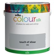 Wilko Silk Emulsion Paint Touch of Silver 2.5L