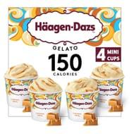 Hagen-Dazs Caramel Swirl Gelato Minicup Collection 4 X 100ml