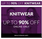 Up to 90% off KNITWEAR - Grab a Bargain