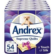 PEACHY! Andrex Supreme Quilts Toilet Tissue, 54 Rolls - HALF PRICE