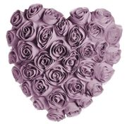 Wilko Lilac Rose Heart Shaped Cushion Only £4