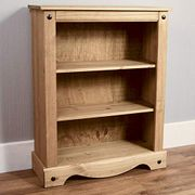 Pine Corona Low Bookcase at Amazon