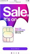 Save £48 Unlimited Data £20 a Month Sim Only