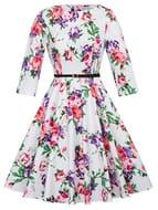 Grace Karin 1950s Vintage Hepburn Style A-Line Cotton Swing Dress Only £5.75