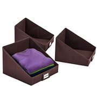 Umi. Wardrobe Shelf Storage Bins Organisers