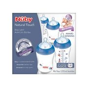 Nuby Natural Touch Easy Latch Anti-Colic Decorated Bottles