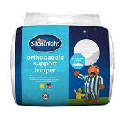 Silentnight Orthopaedic Topper with Removable Cover 5cm-Single, White