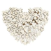100 X Wooden Hearts for Crafts and Wedding Bits (Free Delivery)
