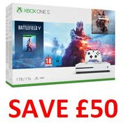 SAVE £50. Xbox One S 1TB Battlefield V Deluxe Edition Console. FREE DELIVERY