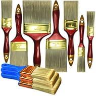 10 Piece Professional Painters Heavy Duty Paint Brushes Set,