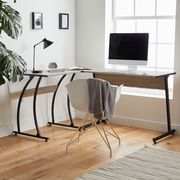 VonHaus Corner L-Shaped Workstation Computer Desk - Save £10