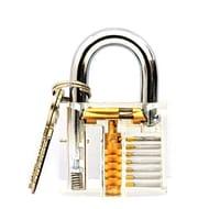 Visible Keyed Padlocks See through Transparent Practice Locks FREE DELIVERY