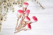 Beauty & the Beast-Inspired Rose Gold Makeup Brushes