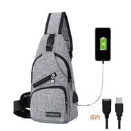 BARHOMO Sling Bag with Carrying USB Charging Port Shoulder Bag