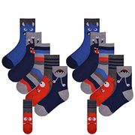10 Pairs Ankle Socks Childrens Character Coloured Bright Design Socks
