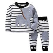 2pc Cartoon Elephant Toddler Baby Clothes Set
