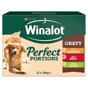 Winalot Perfect Portions Dog Food Meat 12x100g