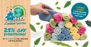 25% off Reusable Baby Wipes, Makeup Wipes and Sanitary Pads