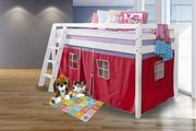 Childrens Bunk Bed with Tent Curtain 3 Colour Options