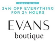 Evans plus Size Clothing - 24% off until Midnight!