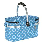 30L Foldable Picnic Basket Insulated Storage Shopping Basket Folding