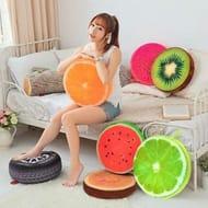 3D Soft Plush Donut Fruit Food Cushion Waist Pillow Sofa Car Seat Mat Only £3.79