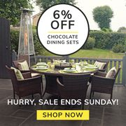 6% off Chocolate Mix Dining Sets!