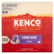Kenco Lungo No. 08 Intense X20 Aluminum Coffee Capsules 104g