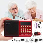 Portable Rechargeable FM Radio USB TF MP3 Player Speaker