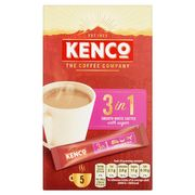 Kenco 3 in 1 Instant Smooth White Coffee 5 Sachet 100G HALF PRICE