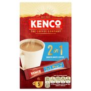 Kenco 2 in 1 Instant Smooth White Coffee 5 Sachet 70G HALF PRICE