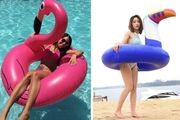 Inflatable Swim Ring 2 Sizes & 4 Designs!